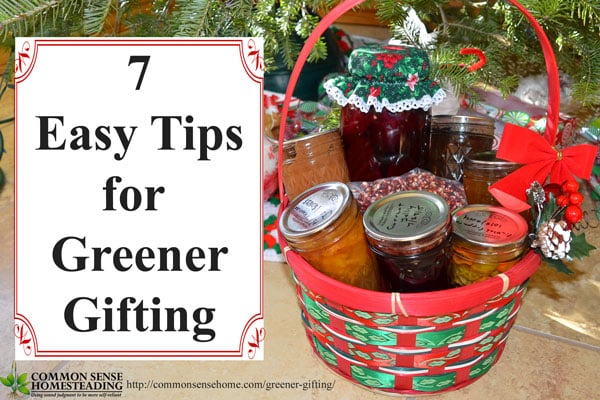 Greener gifting - Ideas for environmentally friendly gifts and gift wrapping that will save money and create a lasting memories for those you care about.