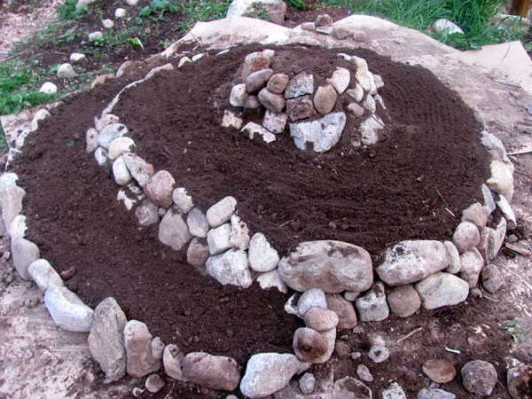 Herb Spiral in progress from Little Mountain Haven