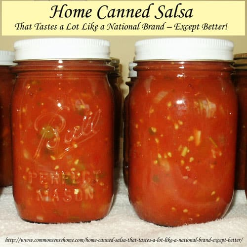 Home canned salsa recipe with fresh tomatoes. Make your own salsa at ...