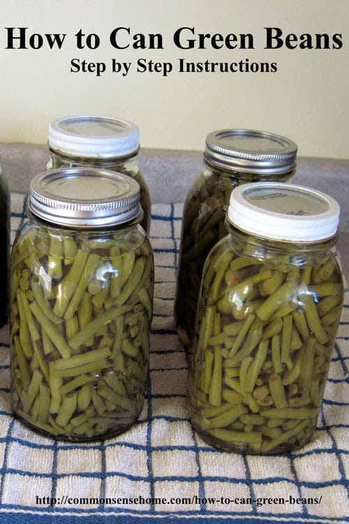 How to can green beans in a pressure canner. Picking, cleaning, processing, headspace, precessing times, altitude adjustments.