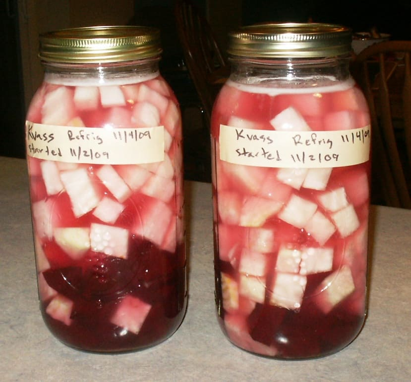 Beet Kvass after brewing