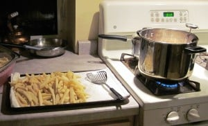 making fries with tallow