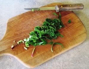 freshly chopped plantain