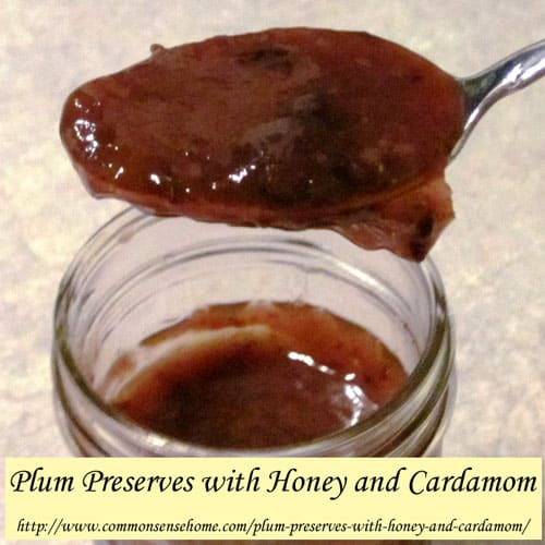 Plum Preserves with Honey and Cardamom @ Common Sense Homesteading