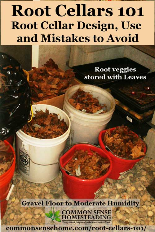 Learn the 5 critical design elements of root cellars & other natural cold storage options. Includes printable storage guide for over 30 fruits and veggies.
