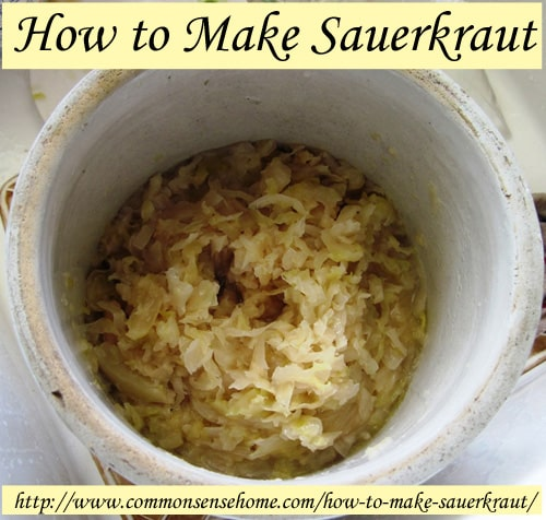 How to Make Sauerkraut - Naturally fermented and filled with probiotics, sauerkraut is a time honored way to add color and flavor to your meals.