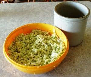 sauerkraut cabbage in bowl