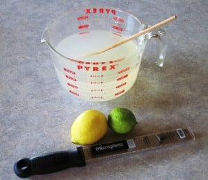 lemon lime water kefir