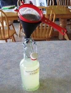 straining water kefir