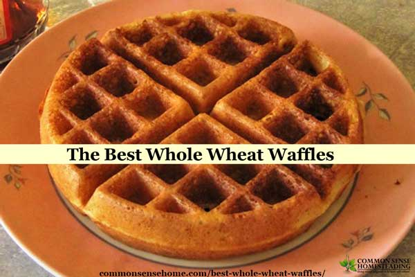 Homemade whole wheat waffles (or pancakes) that are soaked overnight. 100% whole grain - easy, delicious, kid friendly and make ahead.