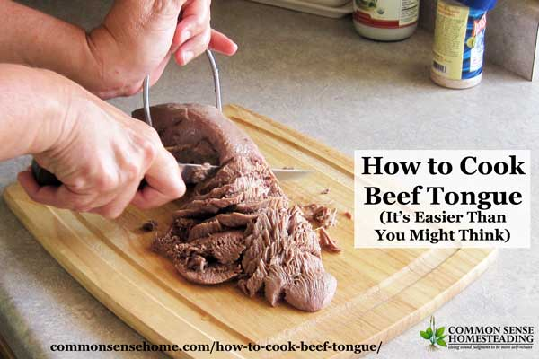 Learning how to cook beef tongue is easy. This simple cooking method creates a delicious cut of meat that can be served like roast - hot or cold.