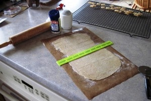 cracker dough cutting