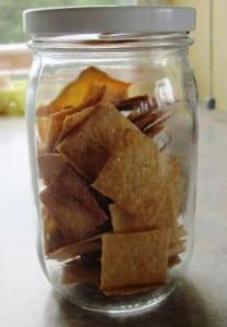 crackers in jar
