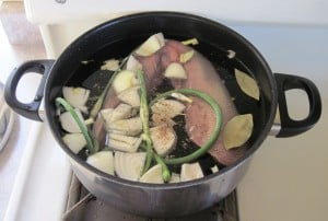 beef tongue in pot
