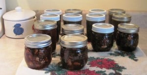 Plum Rum Nutty Conserve