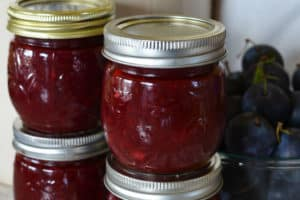 4 jars of plum jam