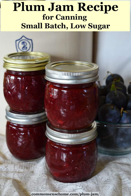 4 jars of plum jam