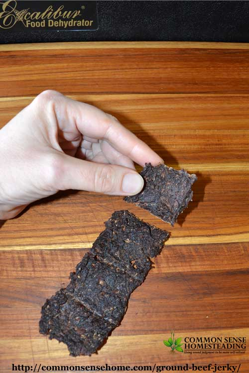 Save money by making your own homemade ground beef jerky. Ground beef jerky is less expensive, easier to make and easier to chew