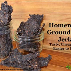 Save money by making your own homemade ground beef jerky. Ground beef jerky is less expensive, easier to make and easier to chew.