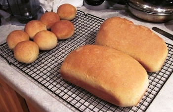 Easy homemade sandwich bread plus sloppy Joe recipe - both freeze well, so they're great to make ahead.
