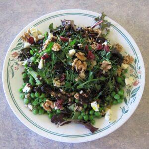 homemade mixed salad