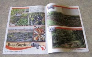 garden in magazine
