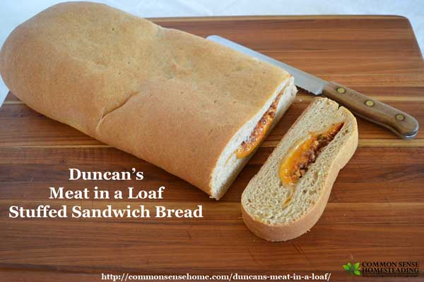 "Duncan's ""Meat in a Loaf"" stuffed sandwich bread - the leftover makeover your kids will love! Easy and budget friendly."