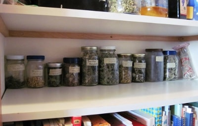 uncovered herb storage