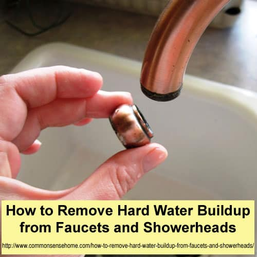 how to remove hard water buildup from faucets and showerheads. Black Bedroom Furniture Sets. Home Design Ideas