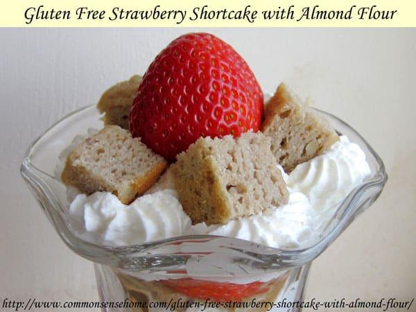 Gluten Free Strawberry Shortcake with Almond Flour
