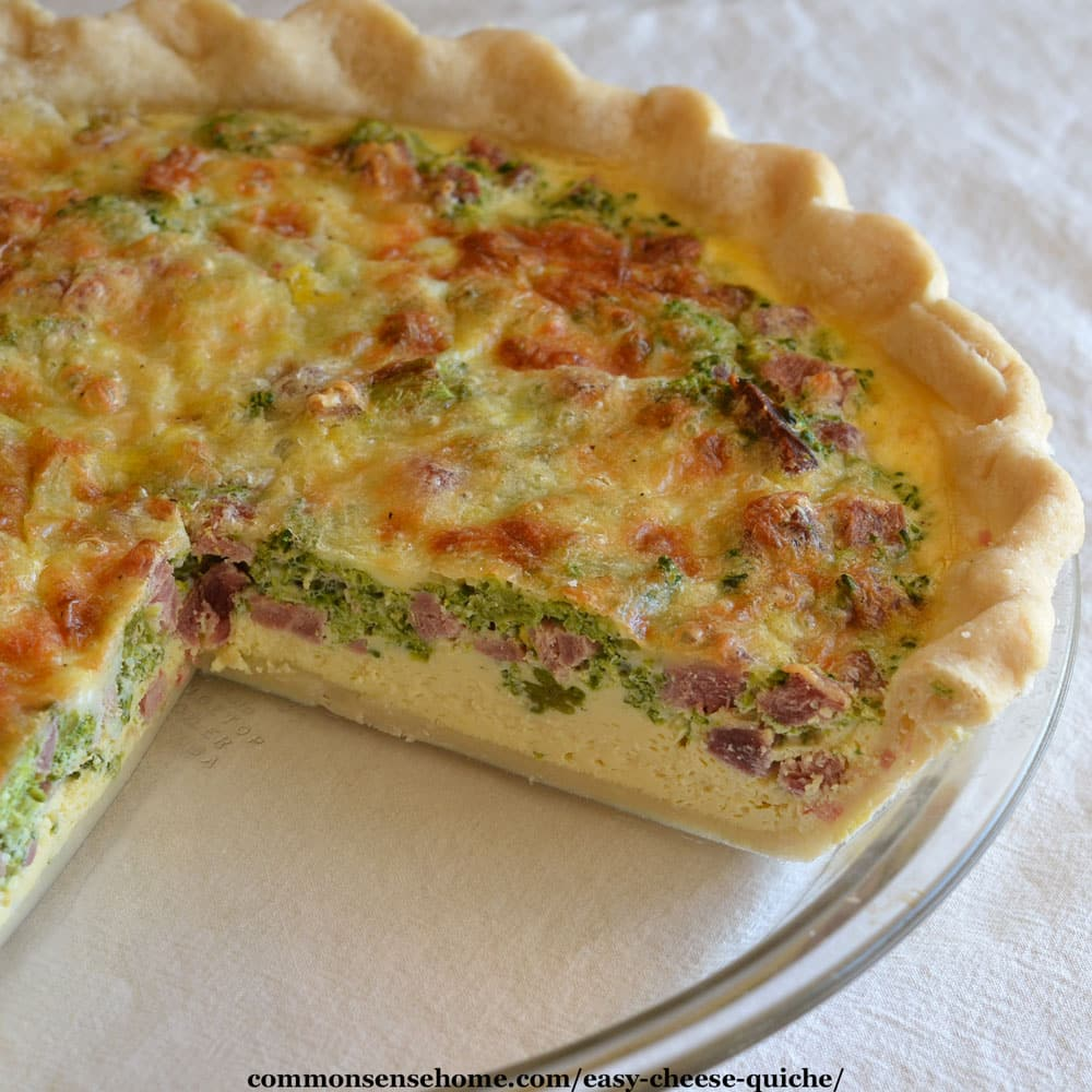 Easy cheese quiche recipe