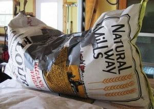 taped grain bag