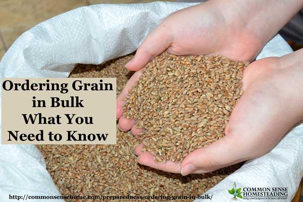 Ordering grain in bulk - Where to Get it, How to Store it and Coordinating a bulk group grain purchase to stock up on organic grains at an affordable price.