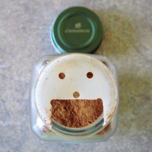 spice jar after cutting