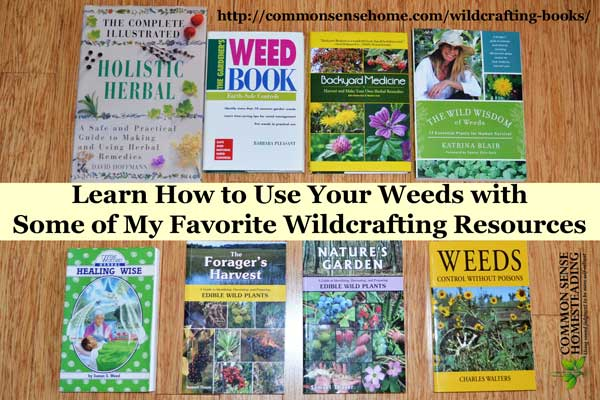 Learn how to use your weeds with some of my favorite wildcrafting books and resources. Get help with identification, control and uses for food and medicine.