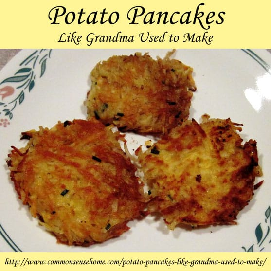 Potato Pancakes Like Grandma Used to Make - This recipe for homemade potato pancakes makes a quick, easy and inexpensive weeknight meal.