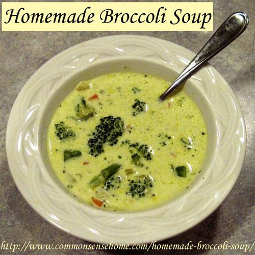 Homemade Broccoli Soup @ Common Sense Homesteading