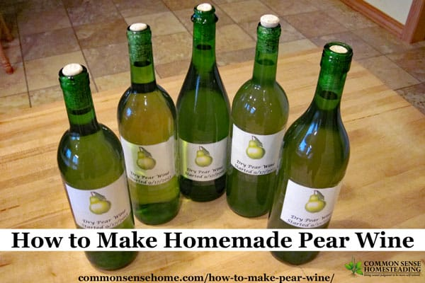 This easy homemade pear wine recipe combines just a few simple ingredients to turn an abundance of ripe pears into delicious homemade wine.
