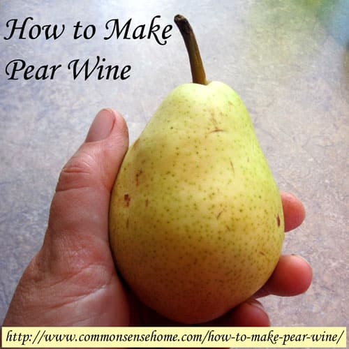 How to Make Pear Wine @ Common Sense Homesteading