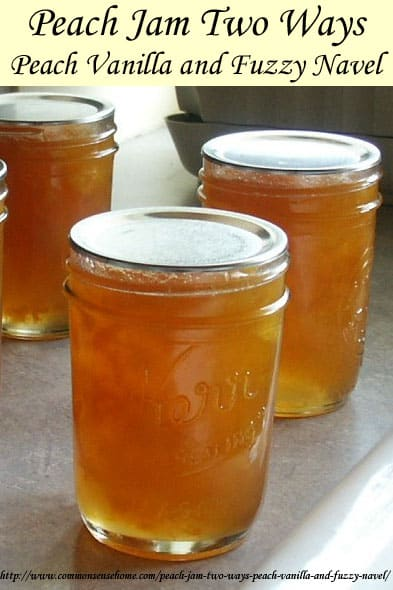 Low Sugar Peach Jam Recipes - Peach Vanilla Jam and Fuzzy Navel Jam - orange and vanilla enhance the naturally sweet flavor of peaches for a unique treat.