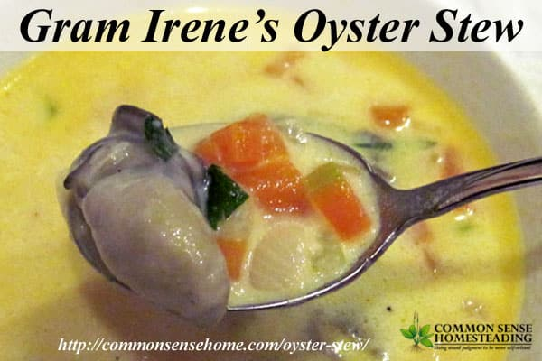 Oyster Stew - This rich, savory soup combines the natural decongestant of bone broth with the cold busting zinc from oysters to boost your immune system.