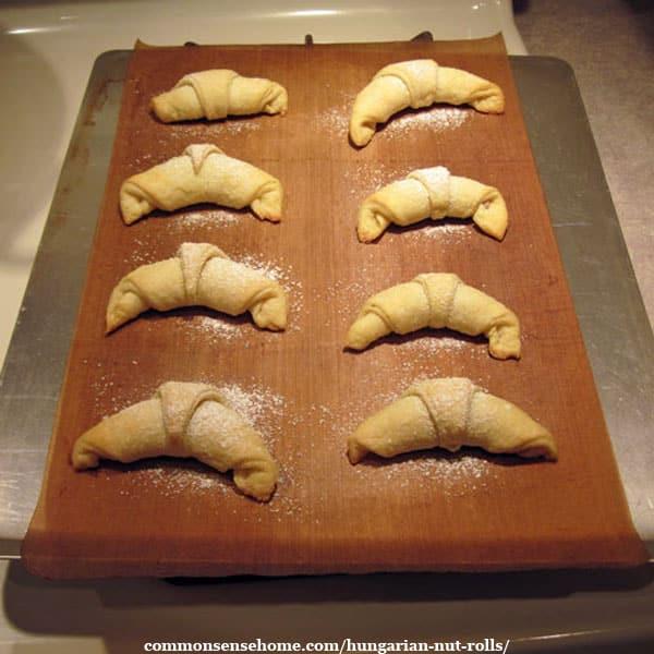 fresh baked Hungarian nut rolls