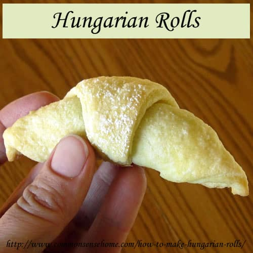 Hungarian rolls are a delicate, flaky pastry with a lightly sweetened nut filling. A favorite holiday tradition in our family, they can be made ahead and frozen.