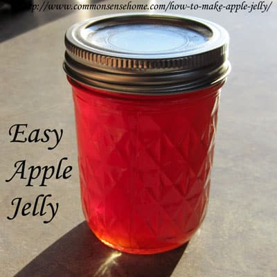 Easy apple jelly with no added pectin