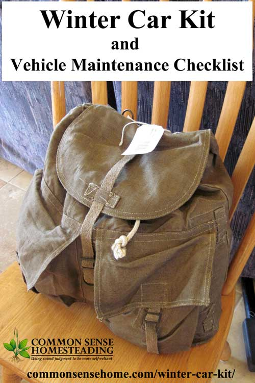 Winter Car Kit and Winter Vehicle Maintenance Checklist