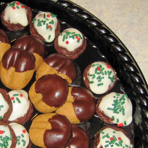 Memorable Christmas Cookies - some family favorites including chocolate almond bon bons, cocoa mocha cookies, and raspberry ribbon cookies.