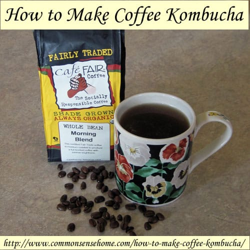 How to Make Coffee Kombucha @ Common Sense Homesteading
