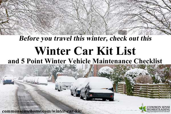 Don't tackle winter driving unprepared. Use this winter car kit and 5 point winter vehicle checklist to keep you and your family safe.