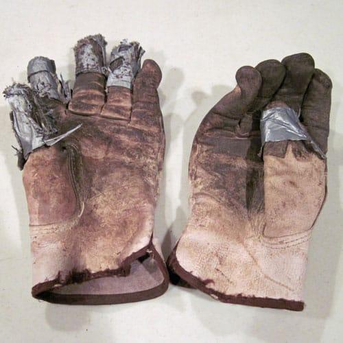 Repaired-garden-gloves