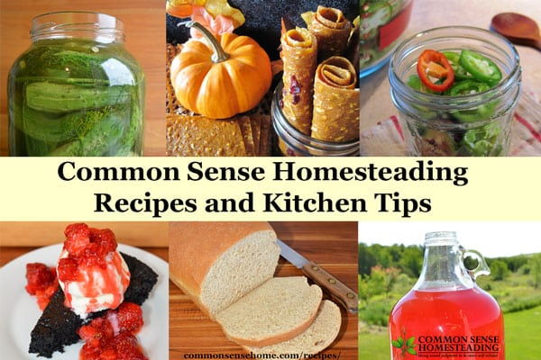From our kitchen to yours - canning and preserving recipes, main dishes, side dishes, breads, desserts, snacks, fermented foods, plus handy kitchen tips.